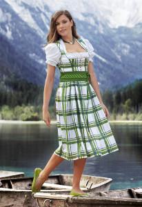 Karodirndl grün/weiß Gössl