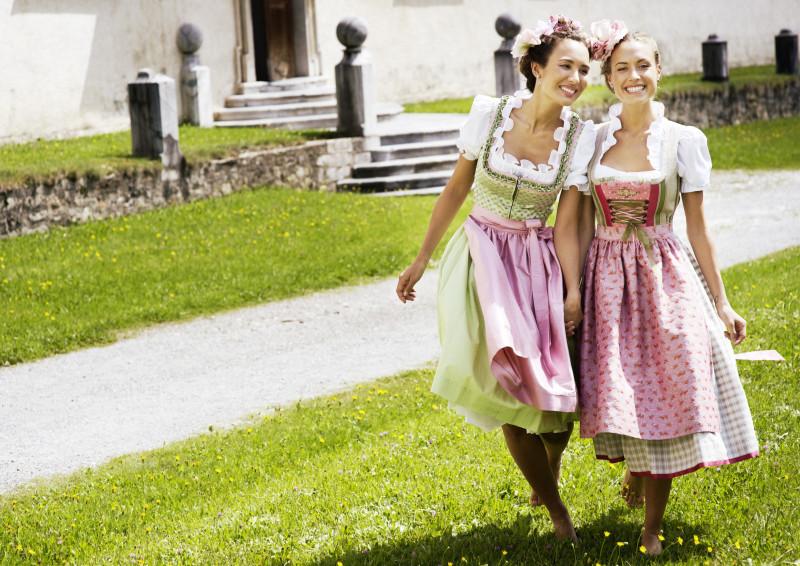 Sportalm Dirndl 2013 - lindgrün und rosa