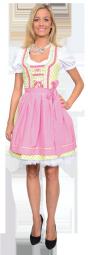 Dirndl mit rosa Schürze, Zillertaler Trachtenwelt 169,- Euro im online Shop
