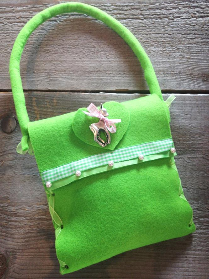 Kitztascherl neon-grün, Sandtwerk