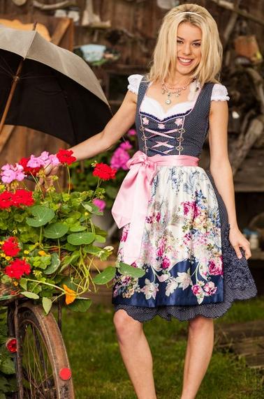 MarJo Gstandne Madl Dirndl mit Blumenschürze