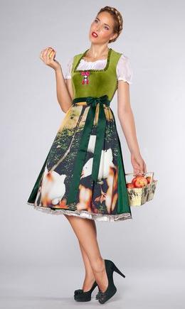 Schwarzwald Couture - Design Dirndl grün