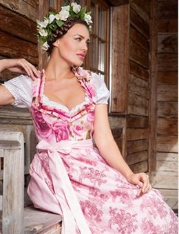 AlpenHerz Dirndl rosa