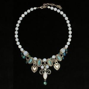 Perlenkette zum Dirndl - Collier Alpenwahn