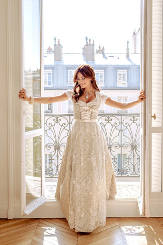 Brautdirndl lang
