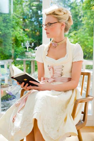 Dirndl Hochzeit, rosa Brautdirndl
