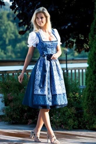 Blaues Dirndl, Trachten Outlet Original Salzburger