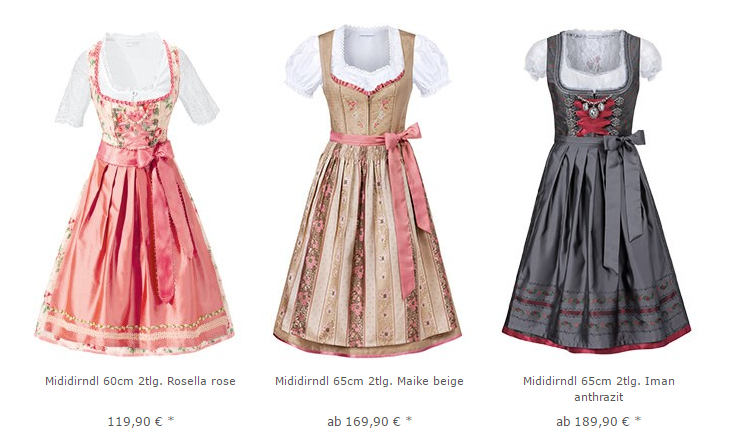 Dirndl online Shop Stockerpoint