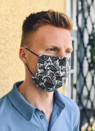 Maske im Paisley Muster - Masken online kaufen bei Susanne Spatt